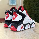 Мужские текстильные  кроссовки Nike Air Barrage белые с красным, фото 6