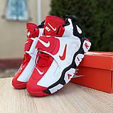 Мужские текстильные  кроссовки Nike Air Barrage белые с красным, фото 7