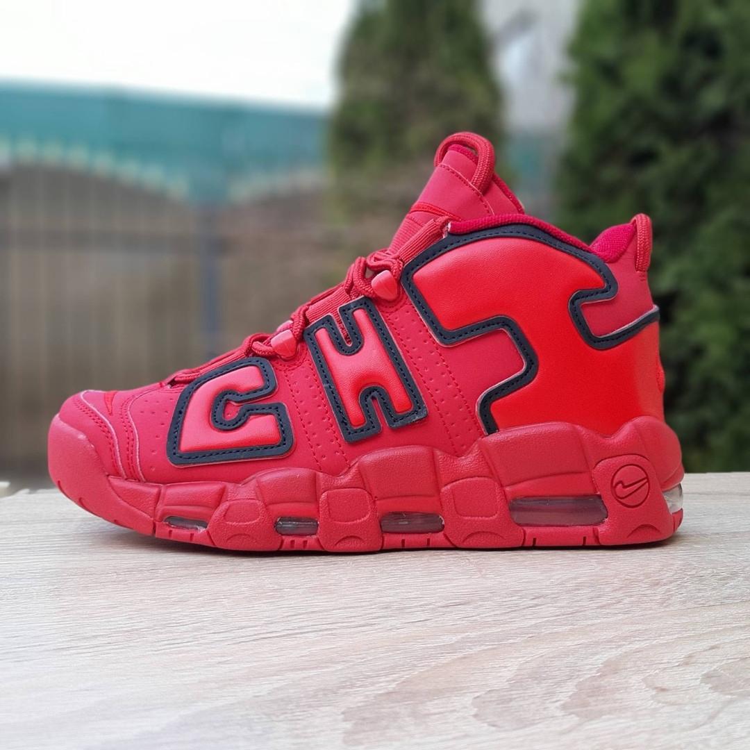 Кроссовки мужские Nike Air More Uptempo кожа красные