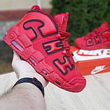 Кроссовки мужские Nike Air More Uptempo кожа красные, фото 2