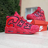 Кроссовки мужские Nike Air More Uptempo кожа красные, фото 3