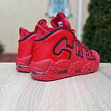 Кроссовки мужские Nike Air More Uptempo кожа красные, фото 5