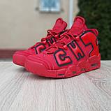 Кроссовки мужские Nike Air More Uptempo кожа красные, фото 6