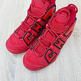 Кроссовки мужские Nike Air More Uptempo кожа красные, фото 7