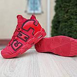 Кроссовки мужские Nike Air More Uptempo кожа красные, фото 8