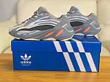 Кроссовки натуральная кожа Adidas Yeezy Boost 700 V2 Адидас Изи Буст (36,37,38,39,40), фото 6