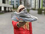 Кроссовки натуральная кожа Adidas Yeezy Boost 700 V2 Адидас Изи Буст (36,37,38,39,40), фото 7