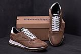 Мужские кожаные кроссовки  Reebok Classic coffe, фото 7