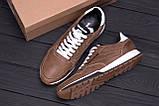 Мужские кожаные кроссовки  Reebok Classic coffe, фото 10