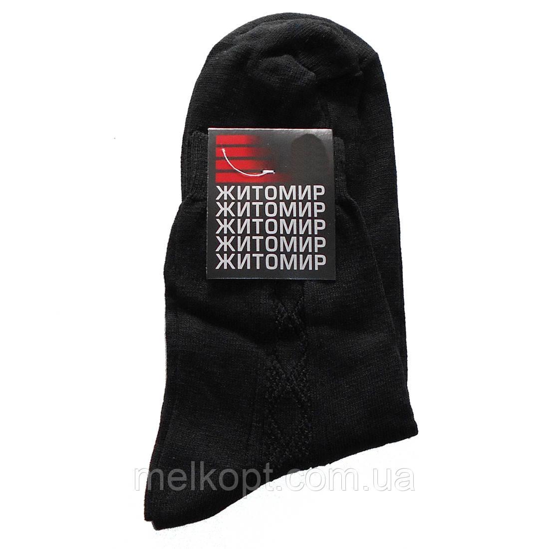 Мужские носки Житомир - 6,80 грн./пара (с боковым рисунком, черные)