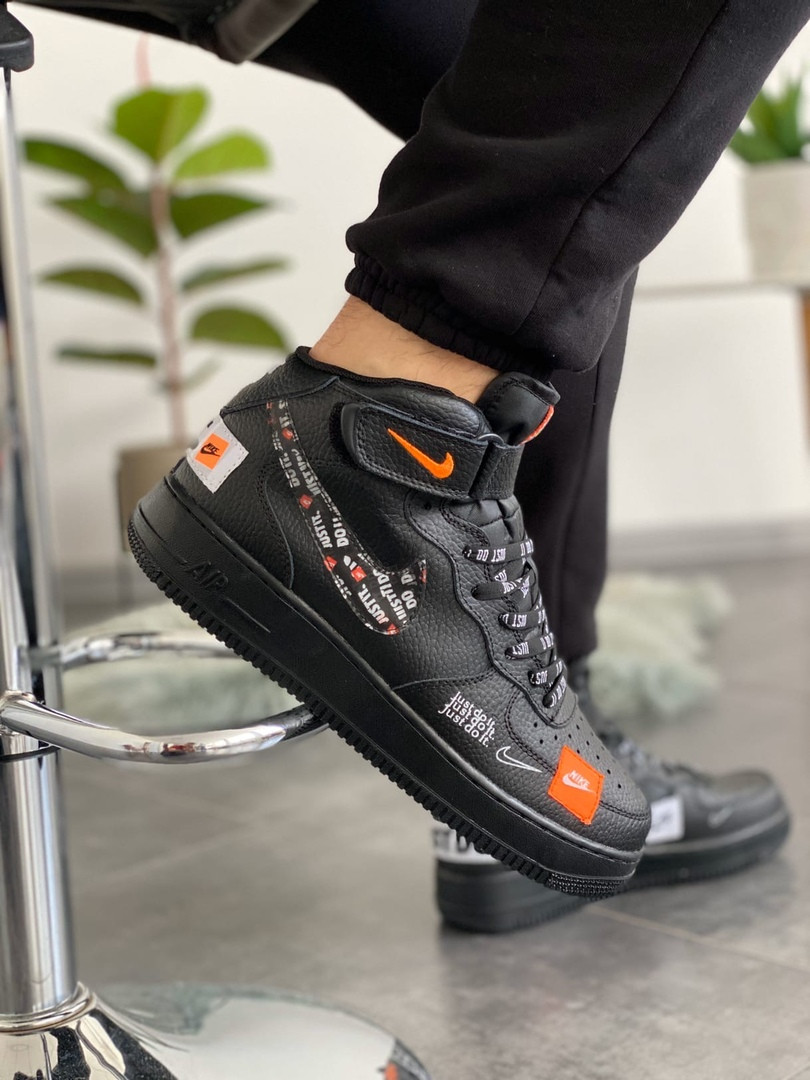 Мужские кроссовки Nike Air Force 1 High Just Do it Pack Black