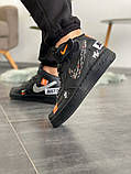 Мужские кроссовки Nike Air Force 1 High Just Do it Pack Black, фото 2