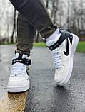 Кроссовки высокие натуральная кожа Nike Air Force Найк Аир Форс (41,42,43,44,45), фото 8