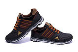 Мужские кожаные кроссовки Adidas Tech Flex Brown, фото 4