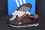Мужские кожаные кроссовки Adidas Tech Flex Brown, фото 7