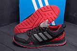 Мужские кожаные кроссовки Adidas A19 Red Star, фото 7