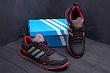 Мужские кожаные кроссовки Adidas A19 Red Star, фото 9