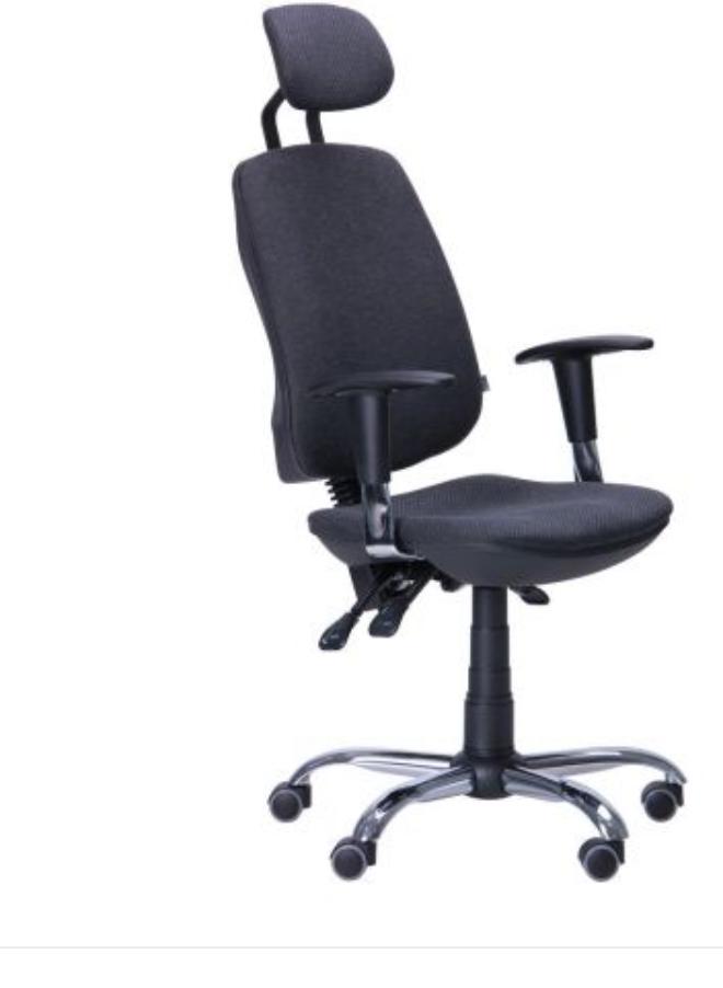 Кресло компьютерное -Регби HR MF Chrome Неаполь N-52