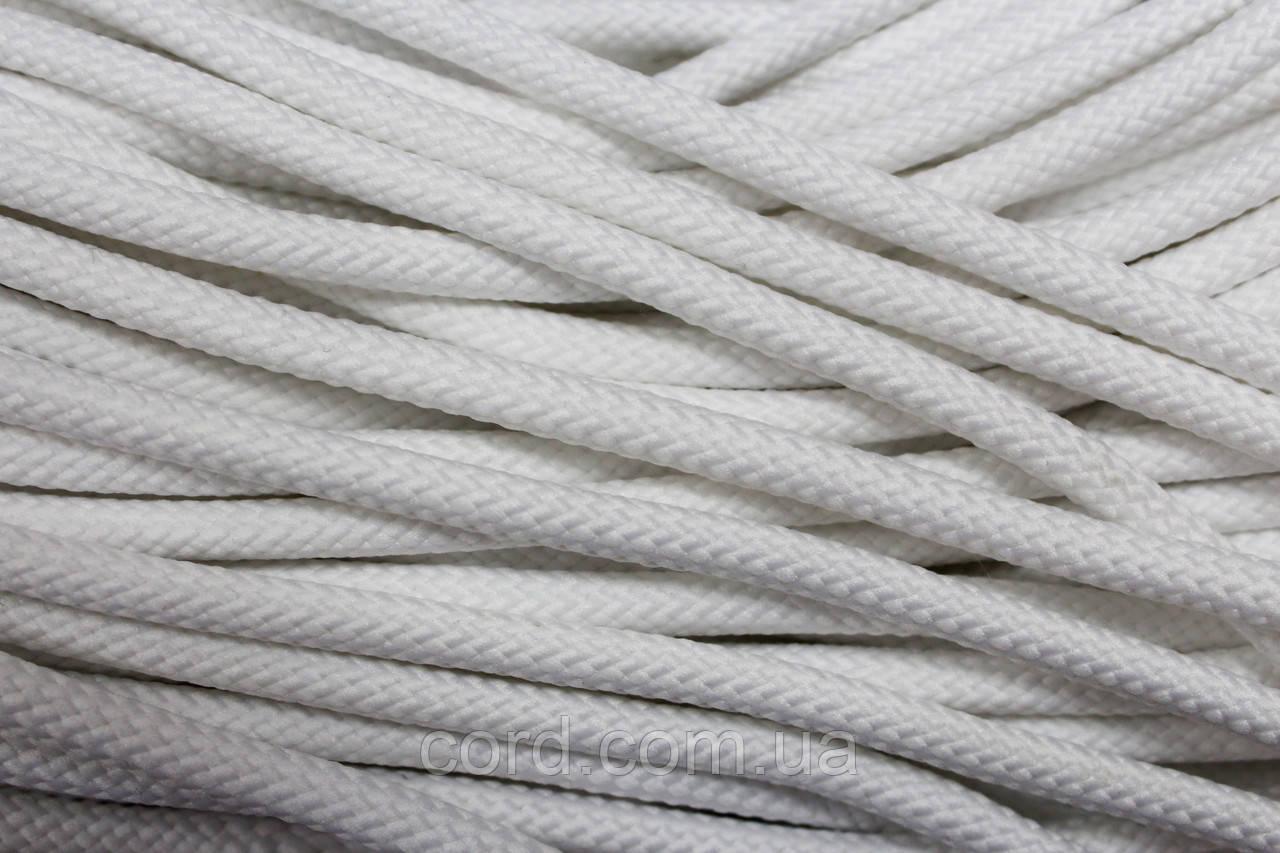 Шнур круглый 7мм 100м белый