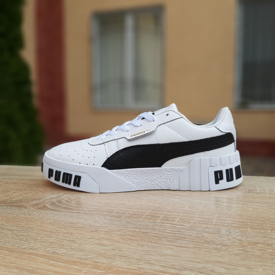 Кроссовки женские Puma Cali Bold белые с чёрным
