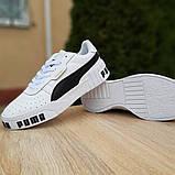 Кроссовки женские Puma Cali Bold белые с чёрным, фото 5