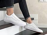 Кроссовки женские Vans белые, фото 3