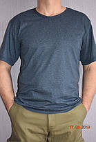 Темно-синяя мужская футболка хлопок 100% меланж  (ночь), фото 2