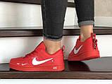 Кроссовки женские Nike Air Force красные, фото 2
