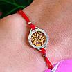 Браслет червона нитка Квітуче дерево життя срібло, фото 4