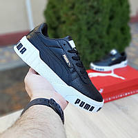 Кроссовки женские Puma Cali Bold чёрные на белой, фото 1