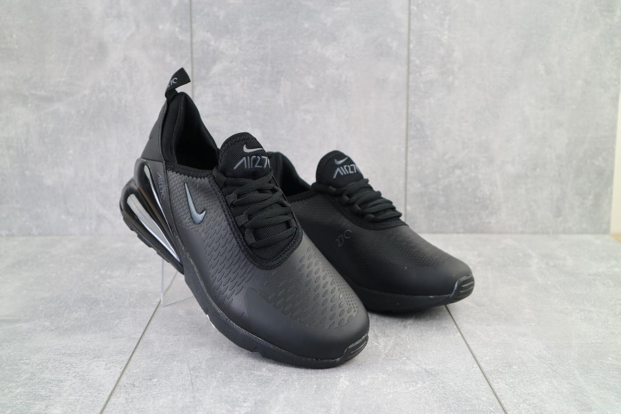 Мужские кроссовки искусственная кожа весна/осень черные-черные Classica 5123 -5