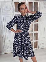 Платье летнее с цветочным принтом Лайма р. 44-50, фото 1