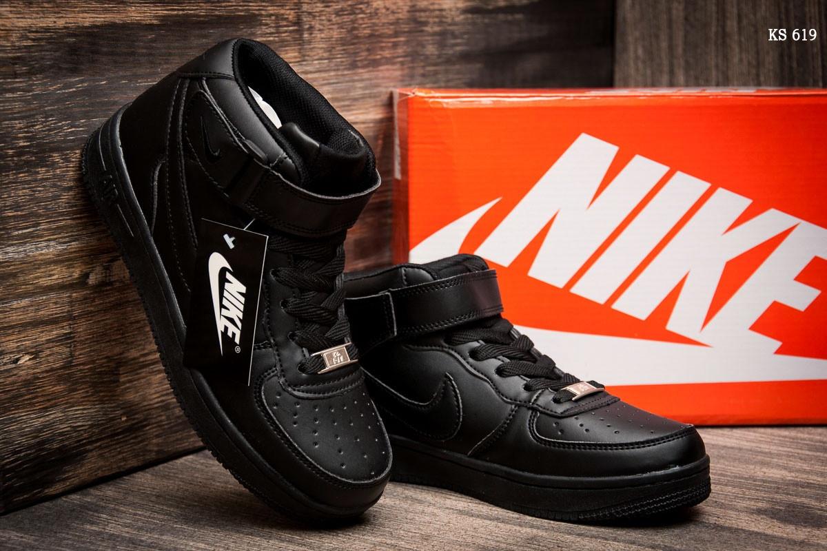 Женские высокие кроссовки Nike Air Force Black