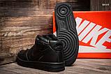 Женские высокие кроссовки Nike Air Force Black, фото 2