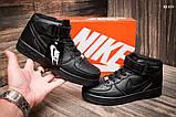 Женские высокие кроссовки Nike Air Force Black, фото 3
