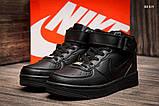 Женские высокие кроссовки Nike Air Force Black, фото 4