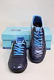 Футбольные кроссовки-копочки (бутсы,сороконожки) мужские,синие, фото 4