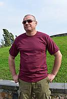 Баталы мужские футболки больших размеров бордовая