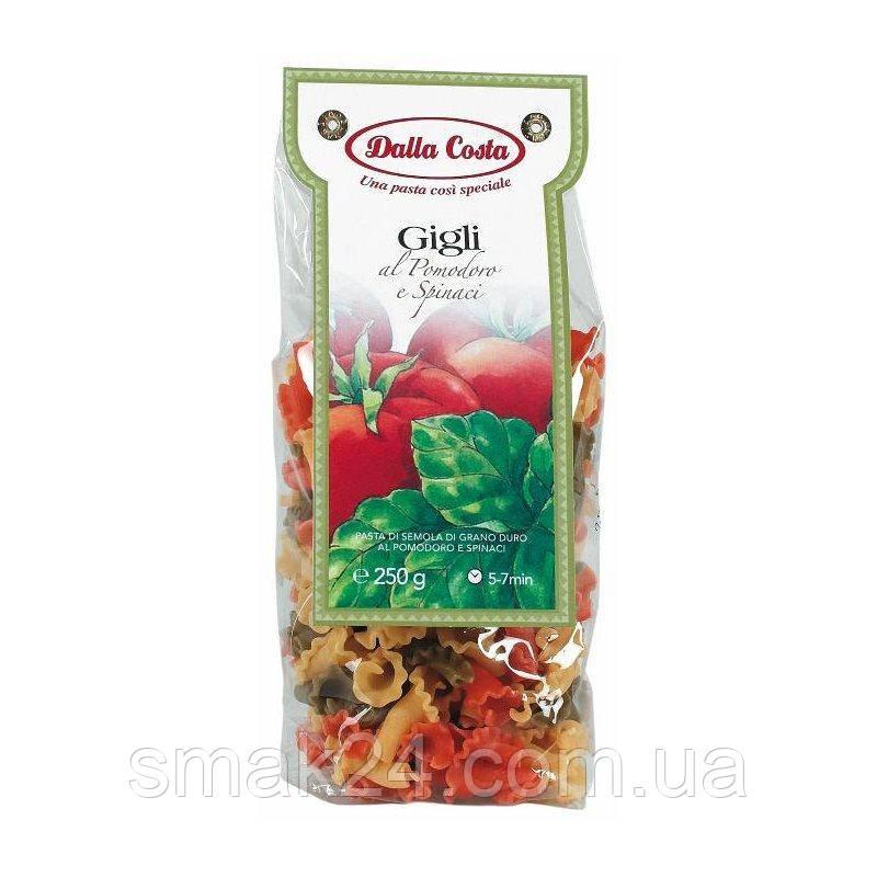Макарони галушки з томатом і шпинатом Dalla Costa Італія, 250г