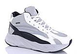 Мужские кроссовки искусственная кожа зимние серые-белые Situo 989 -5, фото 6
