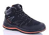 Мужские кроссовки искусственная кожа зимние черные Situo A51 -4, фото 6