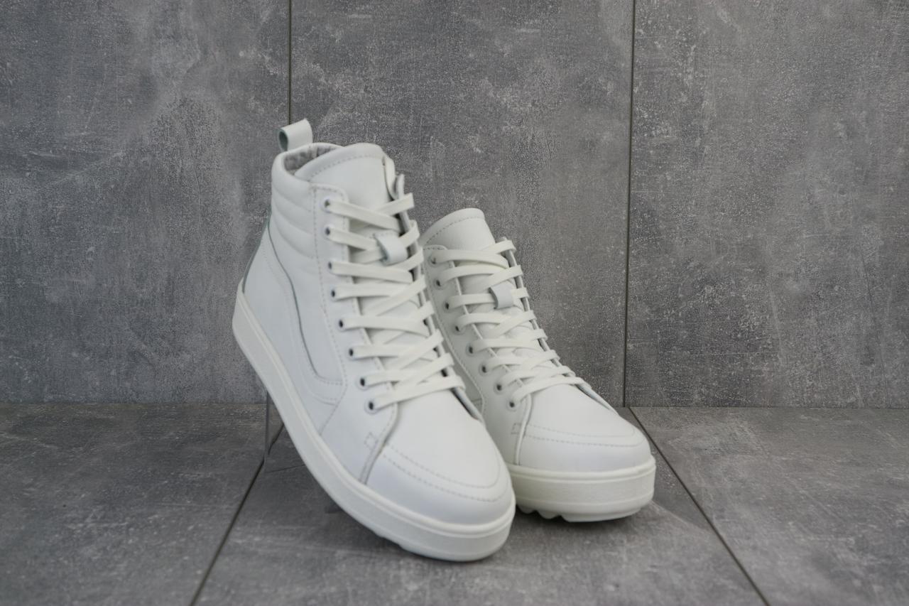 Женские кеды кожаные зимние белые Brand B11