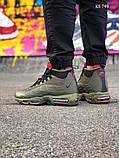 Мужские кроссовки Air Max 95 Sneakerboot зимние термо, 41, фото 3
