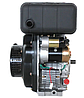 Двигатель дизель.GrunWelt GW178F +БЕСПЛАТНАЯ ДОСТАВКА! (вал под шлицы, 6 л.с), фото 2