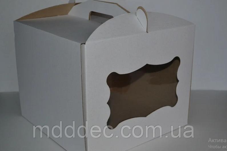 Коробка для торта з вікном 300х300х250