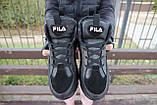 Женские кроссовки кожаные зимние черные Lions F, фото 7