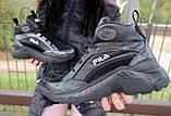 Женские кроссовки кожаные зимние черные Lions F, фото 8