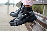 Женские кроссовки кожаные зимние черные Lions F, фото 9