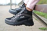 Женские кроссовки кожаные зимние черные Lions F, фото 10