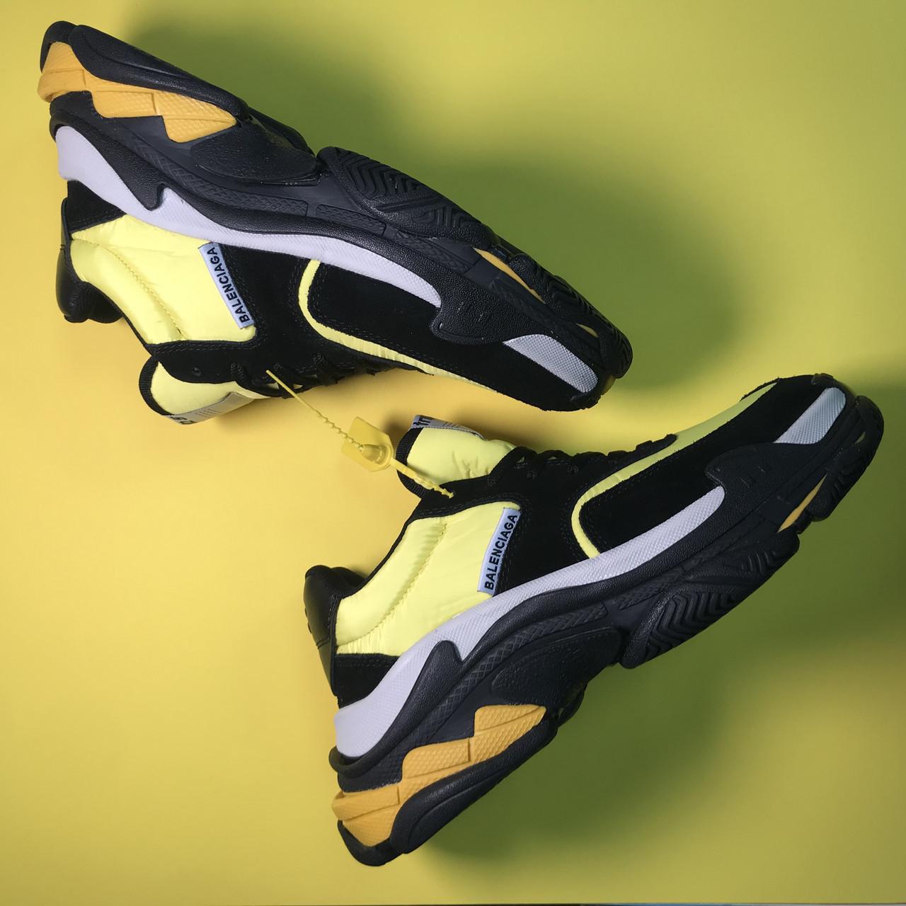 Кроссовки Balenciaga Triple S V2 Black Yellow